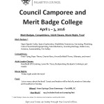 Council Spring Camporee April 1, 2016
